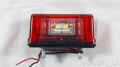 2 pcs  4 LED Rear Tail License Number Plate Light Lamp 12V Car Truck Trailer Van