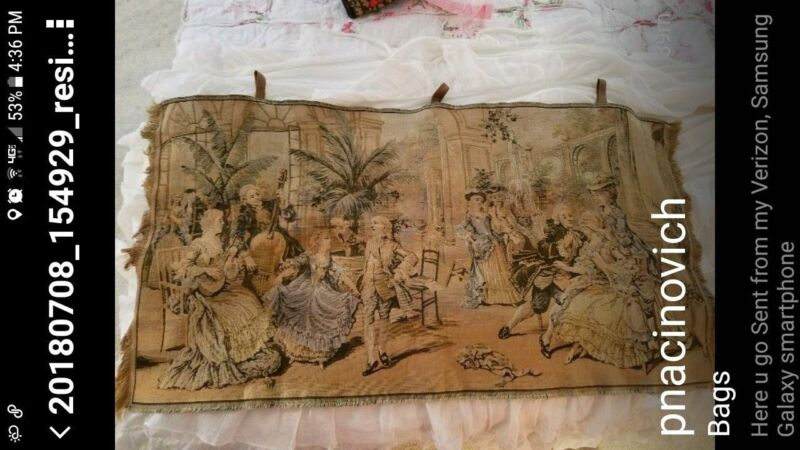 French Victorian style tapestry