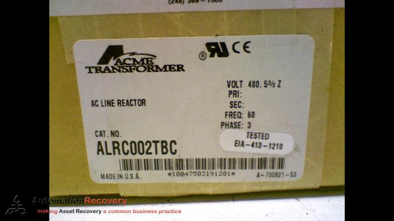 ACME TRANSFORMER ALRC002TBC INDUSTRAIL CONTROL TRANSFORMER AC LINE, NEW #166290