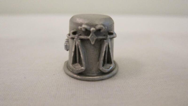 Vintage RR Pewter Sewing Thimble Zodiac Sign Libra Scales