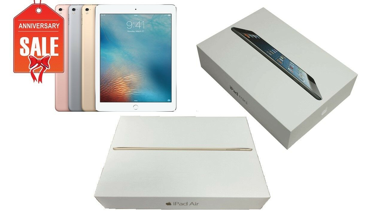 Tablet - Apple iPad 1/2/3/4 Mini Air WiFi Tablet | 16GB 32GB 64GB 128GB I GREAT (R-D)