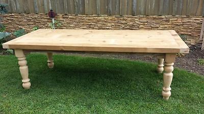 Farmhouse table, farm house table, farm table, harvest table, turned leg table