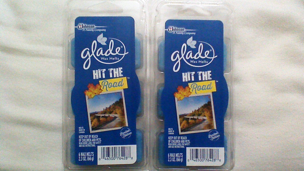 12 Glade Wax Melts Hit The Road Limited Edition Scented 2 Pa