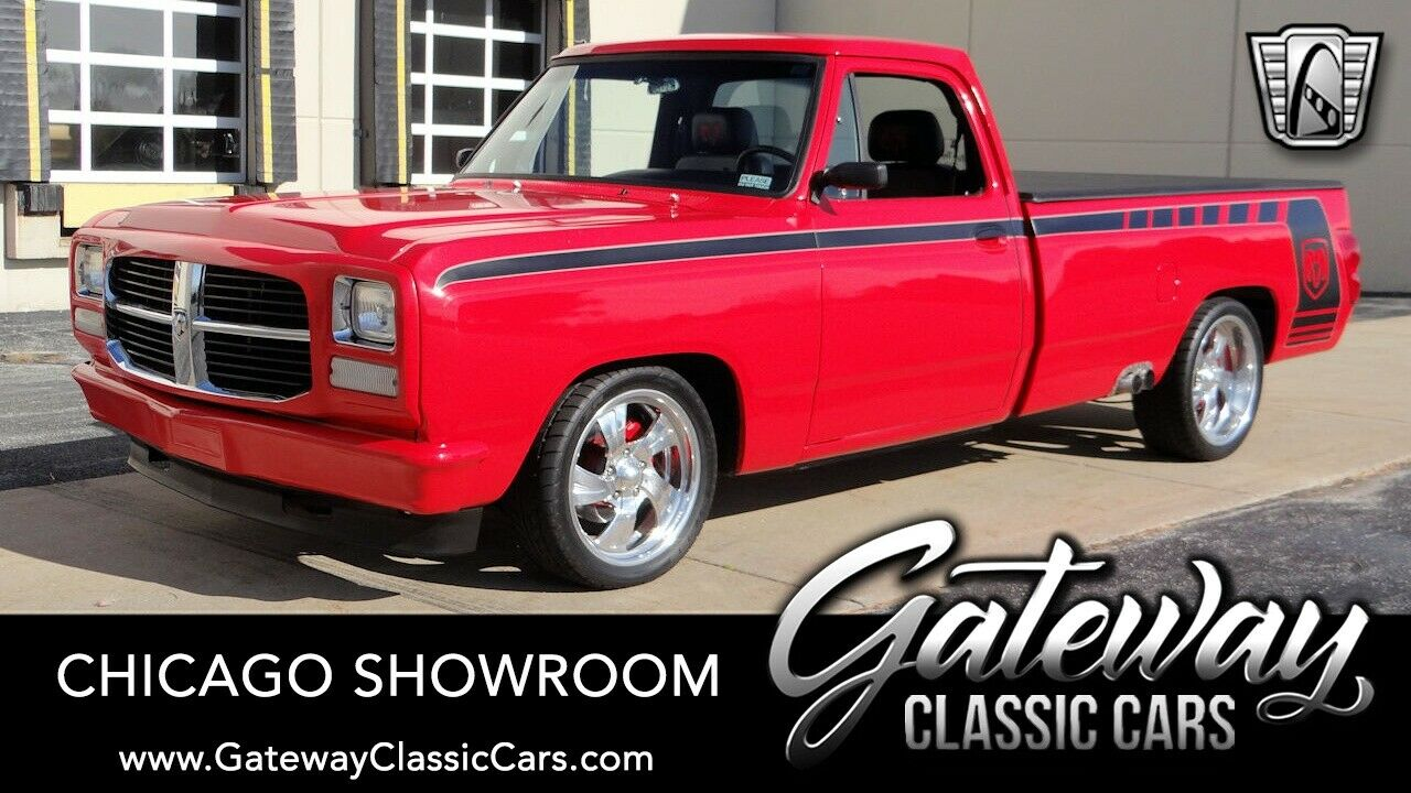 Red 1993 Dodge D150  318 CID V8 4 speed automatic Available Now!