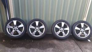 Genuine Mazda 17 inch rims (set of 4) 5x114 excellent tyres Ryde Ryde Area Preview