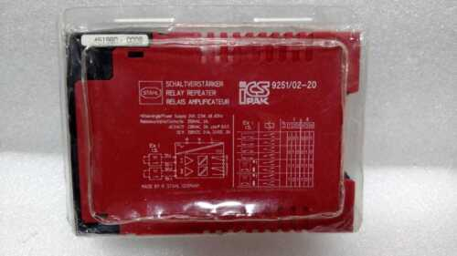 Stahl 9251/02-20 Relay Repeater 92510220 Module Icspak