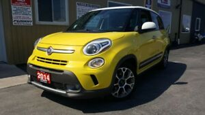 2014 Fiat 500 L Trekking-SUNROOF-1 OWNER OFF LEASE-ALLOY WHEELS