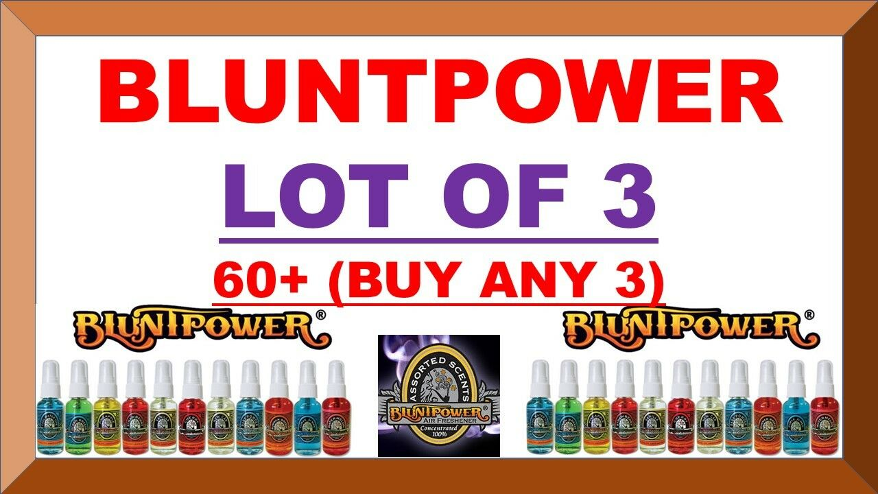 BLUNTPOWER 100% Concentrated Air Fresheners Blunt Power BURN
