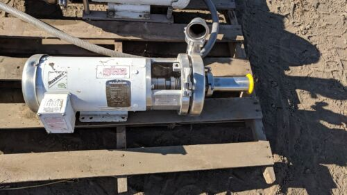 Waukesha Cherry-Burrell C-Series Pumps, C216 With Baldor Motor, 3 HP, 3460 RPM