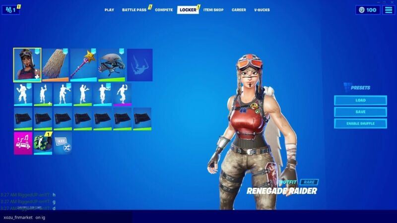 fortnite RENEGADE RAIDER FULL ACCESS pc only