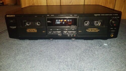 Sony TC-WE425 Stereo Cassette Deck.  {{{REFURBISHED}}}