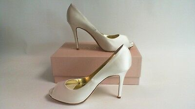 Freya Rose Wedding/ Evening Shoes- Alba - Ivory Silk - Dyeable - UK 4 (Dyeable Silk Wedding Shoes)