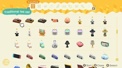 Animal Crossing New Horizons ALL furniture and variants 1000+