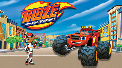 Blaze and the Monster Machines # 10 - 8 x 10 - T Shirt Iron On