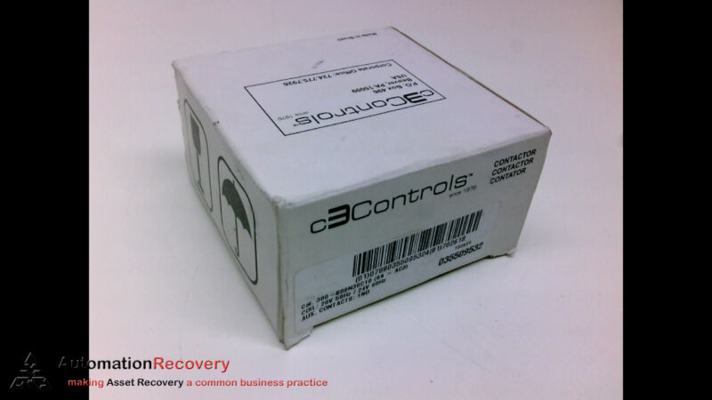 C3CONTROLS 300-S09N30C10, CONTACTOR, 20 VOLT, 50 HZ, NEW #204939