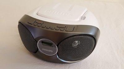Philips AZ215 Radiorecorder  CD Player Boombox  tragbar anlage Weiß Top