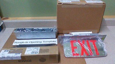 Dual Lite Lecsrxneim Edge Lit Led Exit Sign With Back Box Kit For Ceiling Mt.
