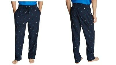 Nautica Men's Sueded Fleece Pajama Lounge Sleepwear Navy Pant LARGE NEW/TAG