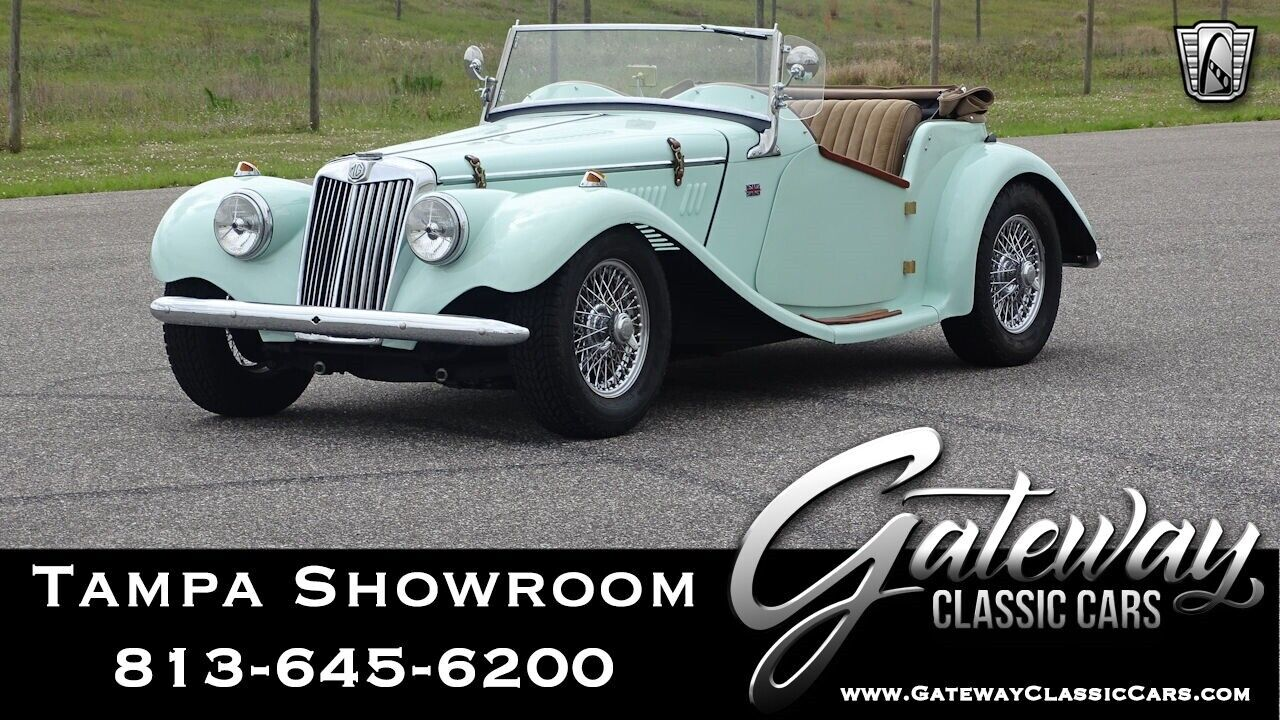 Willow Green 1954 MG TF  Convertible 1500 CC 4 cam 5 Speed Manual Available Now!