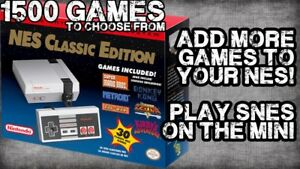 Add games to your NES / SNES Classic!