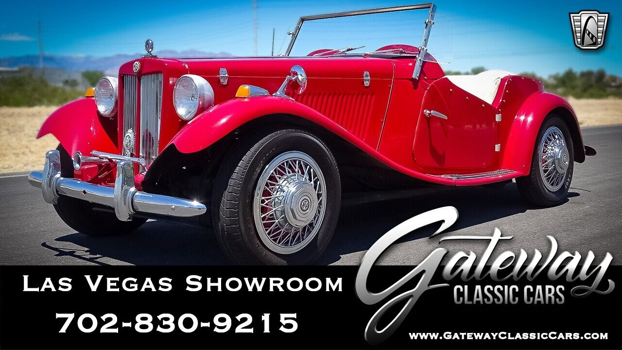 Red 1952 MG TD  Convertible 1200 4 Speed Manual Available Now!