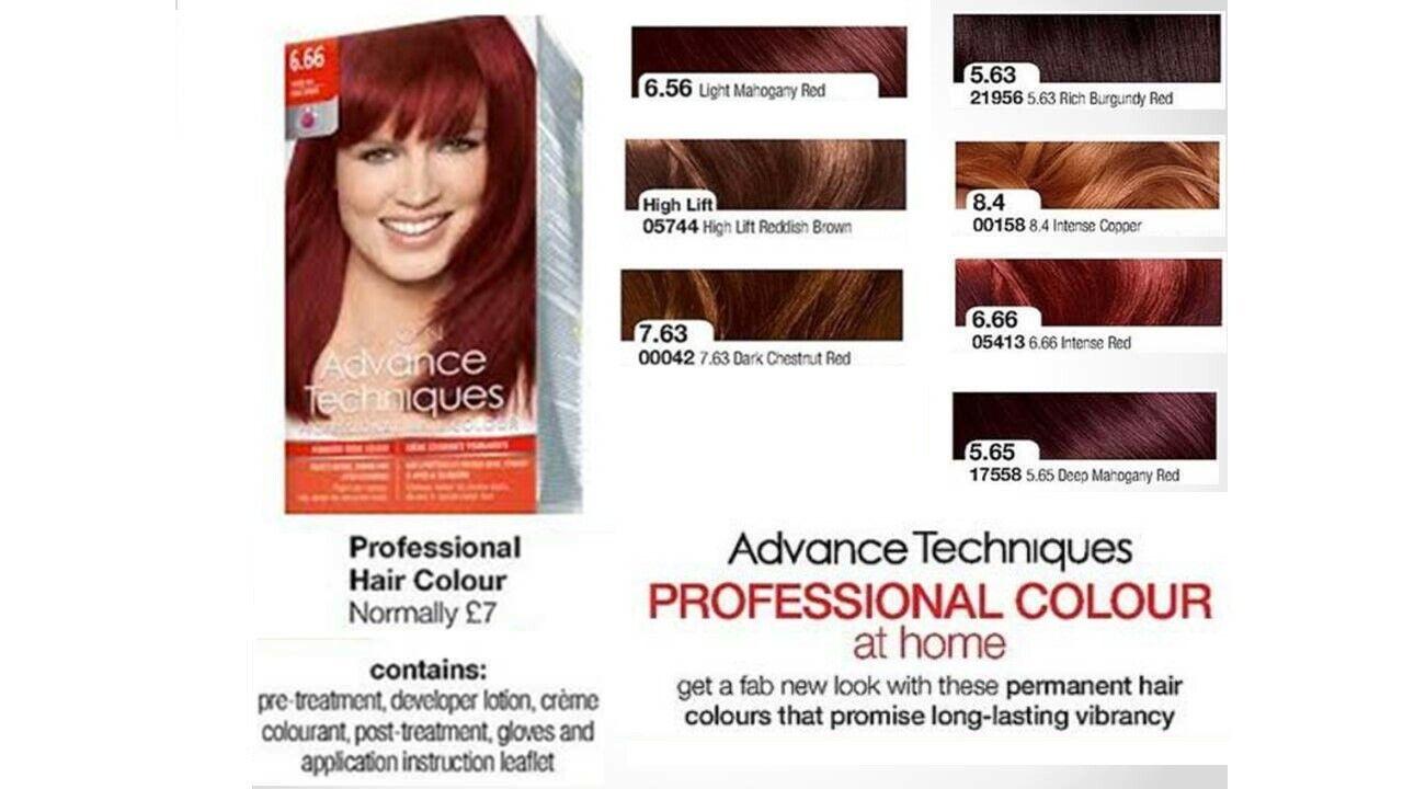 Avon Advance Techniques Professionell Haarfarbe Färben ~ The Rottöne & Braune