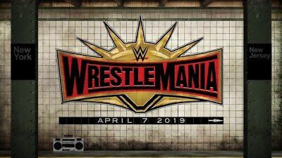 Two WWE WrestleMania 35 floor tickets.