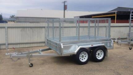 New 8x5 Galvanised Trailer with cage, spare wheel and 12 mths reg