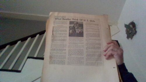 vintage beatles scrapbook fan made 60,s