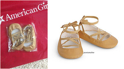 American Girl Rebecca Costume Chest GOLD BALLET SLIPPERS, Shoes Dance Accessory