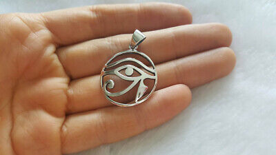 925 Sterling Silver Eye of Horus Pendant Ancient Egyptian Talisman Egyptian Symb