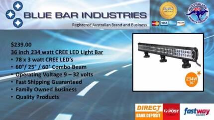 36w cree led light bar other parts accessories gumtree 36 inch 234 watt cree led light bar 602560 combo beam mozeypictures Choice Image