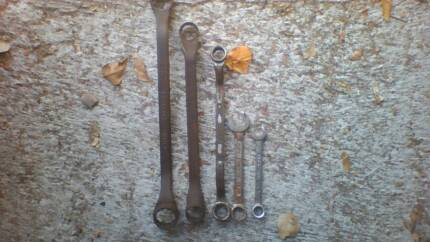 Spanners Sidchrome Imperial Sizes Set Quality Vintage Wrenches Aitkenvale Townsville City Preview