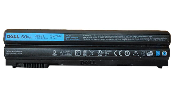 Dell T54FJ For Latitude E5420/E5520/E6420/E6520 6 Cell 60 WHr Laptop Battery