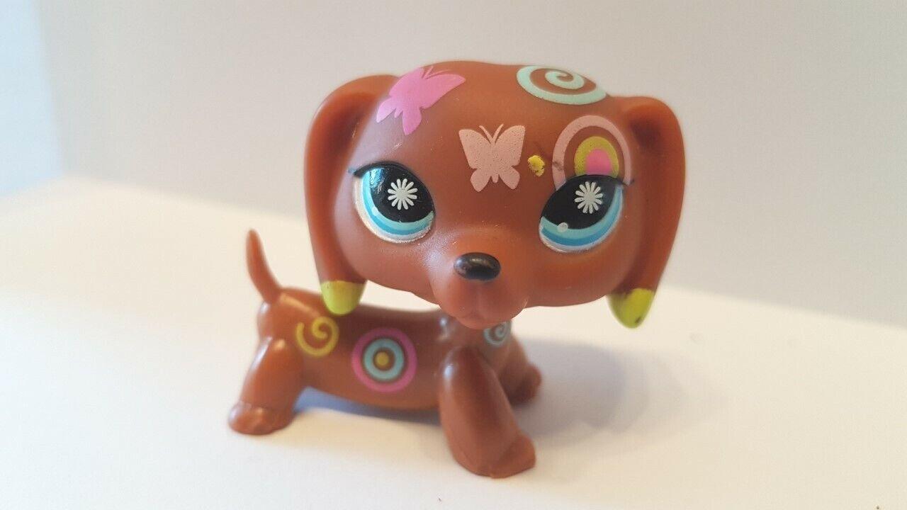 Figurine petshop  original chien dog teckel daschund 1010 tatoo  pet shop lps