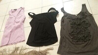 ladies tank sleeveless top lot J. Crew ruffle, lavender ribbed top, black sheer Ladies Sheer Rib Tank