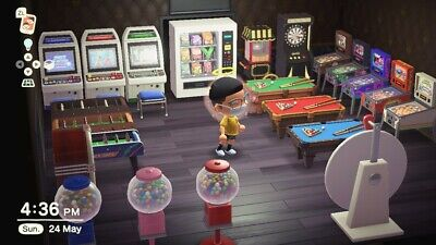 Animal Crossing New Horizons - Arcade Games Room Furniture Set 40 PIECES UPDATED