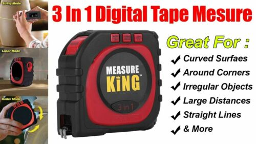 Measure King Pro  3-in-1 Digital Tape Measure Anything Fast and Easy