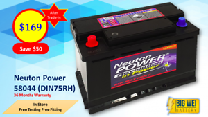 Car Battery NEUTON POWER 58044 (DIN75RH) Slacks Creek Logan Area Preview