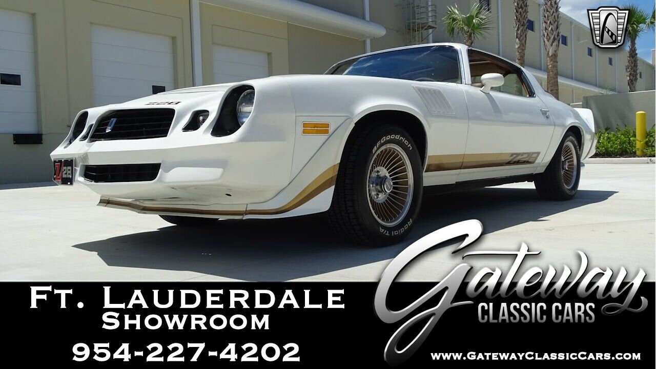 White 1979 Chevrolet Camaro Coupe 350 CID V8 4 Speed Manual Available Now!