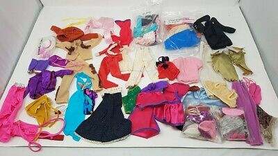 75 Vintage 1960's 70's 80's Barbie/Ken Clothing and Hat Lot - 70 And 80 Clothes