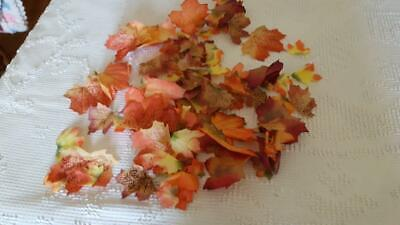 Fall Leaf Crafts (FABRIC FALL AUTUMN ARTIFICIAL MAPLE LEAVES FOR CRAFTS, DECOR, GIFTS)