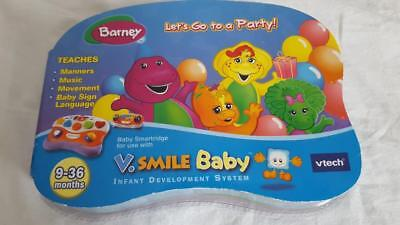NIP V SMILE BABY BARNEY LETS GO TO A PARTY VTECH 9-36MONTHS, CARTRIDGE SMARTRIDG