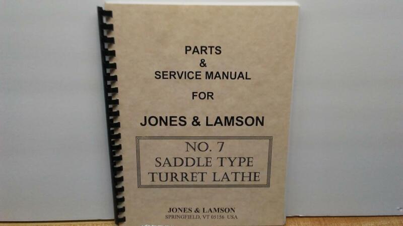 Jones & Lamson #7 Turret Lathe - Parts & Service Manual