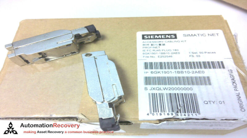 SIEMENS 6GK1901-1BB10-2AE0 -BOX OF 50, FAST CONNECT RJ45 ETHERNET PLUG,  #186177
