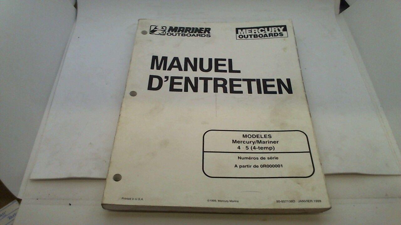 manuel revue technique atelier entretien mercury mariner 4 - 5 4 temps 1999->