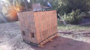 225 BRAND NEW DOUBLE HEIGHT BRICKS LOAD WITH FORKLIFT