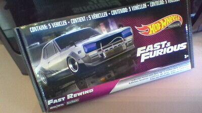 2020 Hot Wheels Premium Fast & Furious Fast Rewind Box Set of 5 Cars