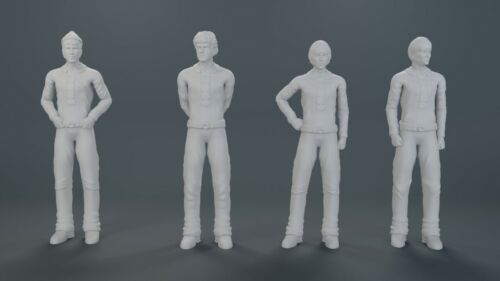 THE MONKEES MOBILE 1:18 or 1:24 scale Figures Peter Davey Micky Mike 3D Printed