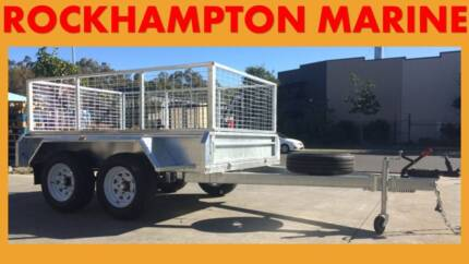 BRAND NEW 8X5 FULLY WELDED, HOT DIP GAL TANDEM BOX TRAILER + CAGE Allenstown Rockhampton City Preview